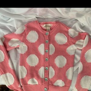 Matilda Jane.Kids 8. Polka dot pink cardigan